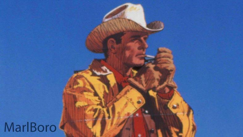 مردی که از چند دهه پیش سمبل ثابتی از تبلیغات سیگار مارلبورو شد اولین هیبت یا چهره ماندگار در فرهنگ سازی توسط تبلیغات تجاری نبود.
